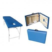Maca para Massagem Portátil em Aço - Azul - Metalic
