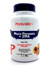 Maca Peruana + ZMA (500mg) 60 Cápsulas - Phytoable - 60 Cápsulas - PhytoAble