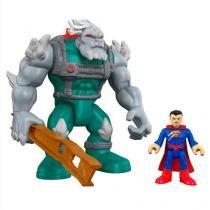 Maginext super friends veiculo apocalypse e superman  mattel m5649 - Mattel