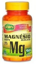Magnesio Quelato Mg 60 Caps 730mg Unilife Vitamins -