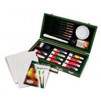 Maleta de Pintura à Óleo para Iniciantes Royal  Langnickel com 26 peças - RSET-OIL3000 -