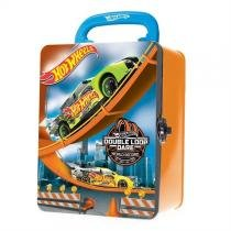 Maleta hot wheels decorada em metal cofre porta carrinhos com 18 garagens gaveteiro organizador box - Gimp