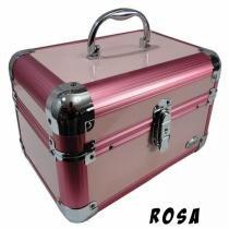 Maleta Maquiagem e Jóias Alumínio Rubys PTJ-1152H/FS-1152H + BRINDE - Rosa - Rubys