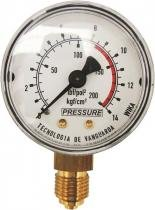 Manômetro 300/175lbs vertical com logo - Pressure