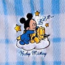 Manta Baby Bordada Mickey e Pluto - Jolitex - Mickey Azul - Jolitex