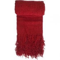 Manta Chenille 1,30x1,80 Vermelha - decoraçao e cia