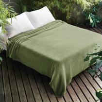 Manta de Microfibra Casal Verde Dyuri Jolitex - Jolitex