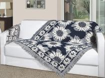 Manta decorativa p/ sofá 1,50m x 1,00m girassol - Vermelho - Omartex