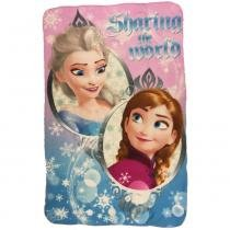 Manta dtc disney frozen world felpuda e macia 100cm x 150cm -