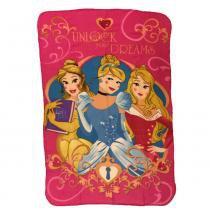 Manta Estampada em Poliéster - 100 x 150 CM - Disney - Princesas Disney - DTC - DTC