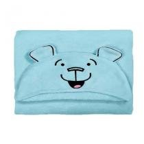Manta Infantil Com Capuz Buettner Urso 95x90 cm Azul Microfibra - Buettner