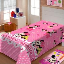 Manta Infantil Disney Soft Minnie Gracinha - Jolitex - Rosa - Jolitex