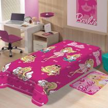 manta infantil menina jolitex barbie fashion -