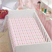 Manta Infantil Minnie  Margarida Disney Soft Poliéster Microfibra Jolitex 0,90mx1,10m Rosa -