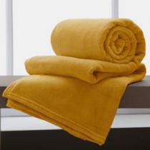 Manta Microfibra Casal 2,20x1,80 Home Design Corttex Amarelo - corttex