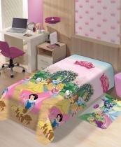 Manta Microfibra Disney Princesas Jardim  Jolitex -