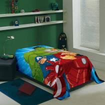 Manta Solteiro Fleece Estampada Avengers - Lepper