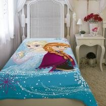 Manta Solteiro Fleece Estampada Frozen - Lepper