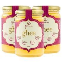 Manteiga Clarificada Ghee Kit com 3 Frascos de 350ml - Yamuna