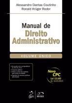 Manual de Direito Administrativo - Volume Unico - Metodo