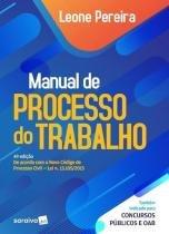 Manual de processo do trabalho - Saraiva editora