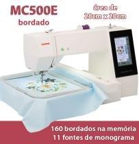 Maquina De Bordar Janome Mc 500e Painel Colorido -