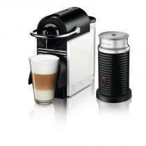 Máquina de Café Nespresso Pixie Clips Branca e Coral Neon 220v com Aeroccino - nespresso