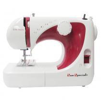 Máquina de Costura Doméstica Sun Bright, 14 pontos, Caseado, Retrocesso, Braço Livre, 3 Bobinas, SS565 - Sun special