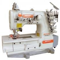Máquina de Costura Galoneira Industrial, 3 Agulhas, 5 Fios, Base Plana/Fechada, 6000rpm, F007K - Siruba