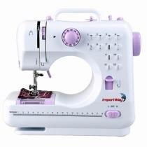 Máquina de Costura Portátil 12 Pontos Bivolt - 2 Velocidades Costura Reversa - ImportWay - 505 -