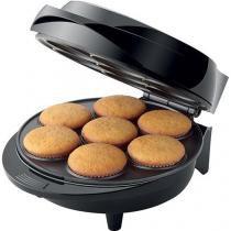 Máquina de Cupcake Mondial Maker Pratic Cupcake Preto/Inox - 110v - Mondial
