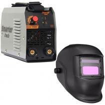 Maquina de solda evo150 smarter e mascara de solda automatica -