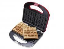 Máquina de Waffle Cadence WAF100, Vermelho e Branco, Chapas antiaderentes, Porta-fio, 110V -