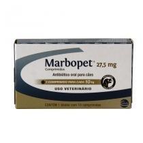 Marbopet 27,5mg Antibiótico Cães 10kg 10 comp Ceva -