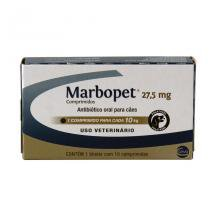 Marbopet 27,5mg Antibiótico Cães 10kg 10 comp Ceva - Ceva