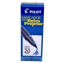 Marcador p/ retroprojetor 2.0mm azul cx. c/ 12 un. pilot -