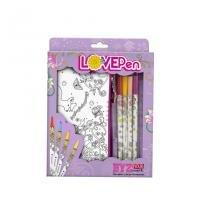 Marcadores Lovepen - Kit com 4 Canetas e 2 P. Lápis - Yes