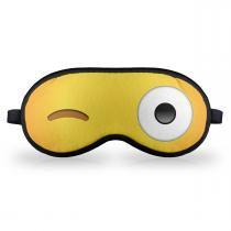 Máscara de dormir em neoprene - emoticon emoji piscadinha - Yaay
