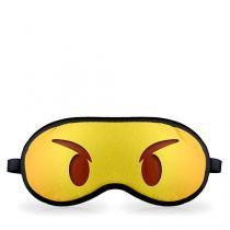 Mascara para Dormir Emoji Bravo Bravinho Emoticon - Amarelo - Único - Gorila Clube