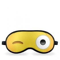 Mascara para Dormir Emoji Piscando o Olho Emoticon - Amarelo - Único - Gorila Clube