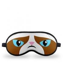 Mascara para Dormir Grumpy Cat Meme - Marrom - Único - Gorila Clube