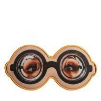 Máscara Para Dormir Óculos Fundo de Garrafa - Creme - Único - Gorila Clube