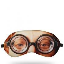 Máscara para Dormir Óculos Nerd - Preto - Único - Gorila Clube