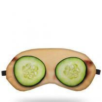 Máscara para Dormir Pepino Para os Olhos - Preto - Único - Gorila Clube