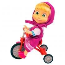 Masha e o Urso Boneca Masha com Triciclo Divertido - Sunny -