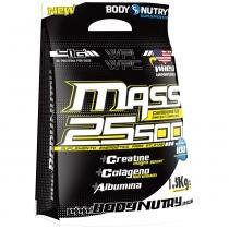 Mass 25500 + Creatine Magna Power - Refil -  1,5 Kg - Body Nutry - Morango Com Banana -
