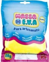 Massa de Eva Para Artesanato Amarelo 50 Gramas - Make -