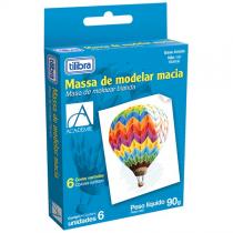 Massa de Modelar Macia Académie 6 Cores - Tilibra - Tilibra