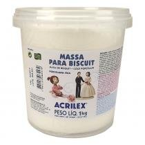 Massa para Biscuit Acrilex 1000 gr - Branco 519 -