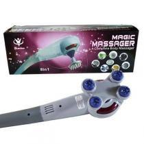 Massageador Eletrico Gigante Infravermelho 7 Adaptadores Vibratorio - Magic massager